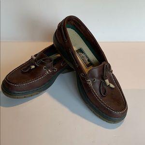 LL Bean Men's Lug Sole Leather Tassle loafer